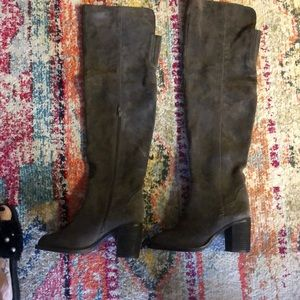 Jeffrey Campbell suede over the knee boots